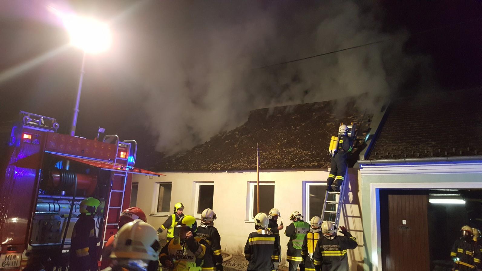 Wohnhausbrand (B3) – Gaweinstal (Scheicherstraße) – 16.02.2018